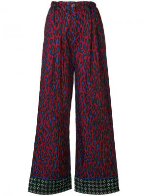 Расклешенные брюки Michel Klein. Цвет: красный