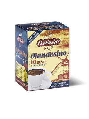 Растворимое какао в саше 25г*10 Carraro Cacao  Olandesino. Цвет: коричневый