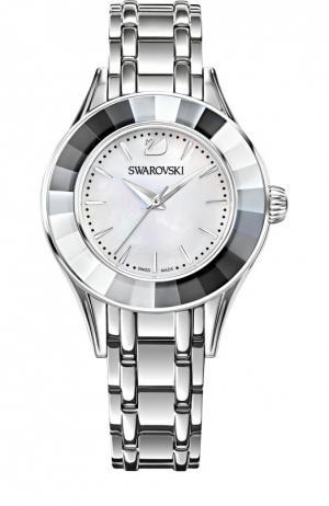Наручные часы Alegria с перламутровым циферблатом Swarovski. Цвет: серебряный