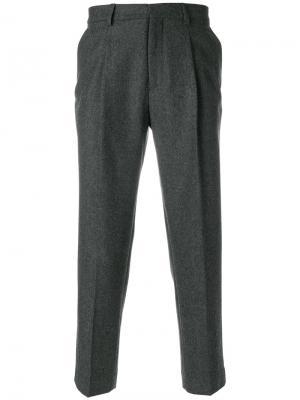 Укороченные брюки Harmony Paris. Цвет: серый