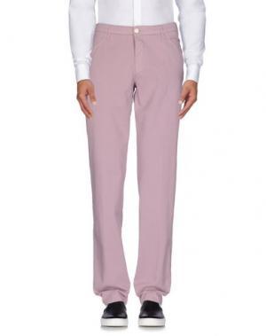 Повседневные брюки BAD. Цвет: пастельно-розовый