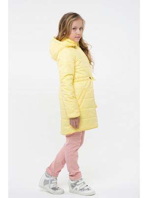 Пальто NIKASTYLE. Цвет: желтый