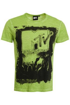 Футболка Mtv. Цвет: зеленый