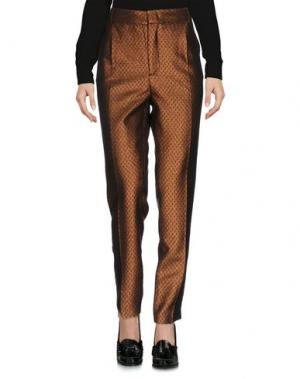 Повседневные брюки MONOCROM. Цвет: бронзовый