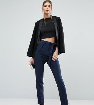 ASOS Tall Тканые брюки‑галифе с поясом оби. Цвет: темно-синий