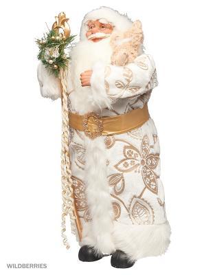Дед Мороз в Золотистой Шубе  (MT-C041406-107) MAXITOYS. Цвет: белый, зеленый, золотистый
