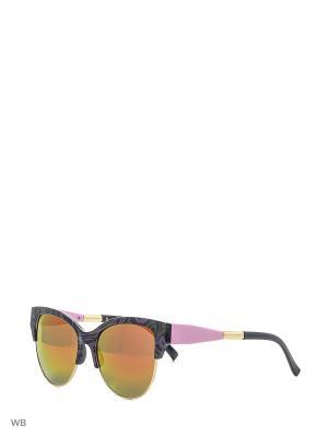 Солнцезащитные очки Vittorio Richi. Цвет: оранжевый, фиолетовый