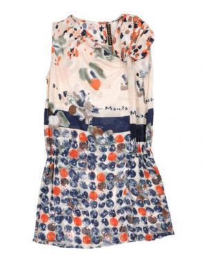 Платье MANILA GRACE. Цвет: бежевый