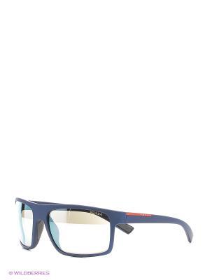 Солнцезащитные очки Prada Linea Rossa. Цвет: синий