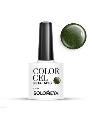 Гель-лак Color Gel Тон Perseus SCG077/Персей SOLOMEYA. Цвет: темно-зеленый