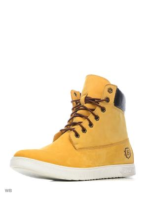 Ботинки BEKERANDMILLER. Цвет: желтый, рыжий