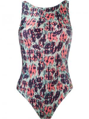 Animal print swimsuit Brigitte. Цвет: зелёный
