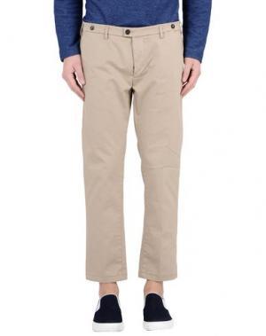 Повседневные брюки JFOUR. Цвет: песочный