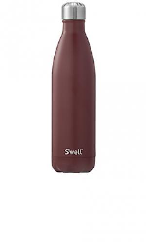 Бутылка для воды 25 oz/740 мл satin Swell S'well. Цвет: вишня