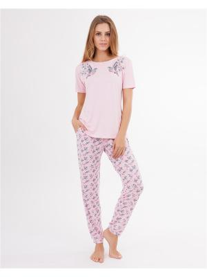 Комплект одежды: футболка, брюки Mark Formelle. Цвет: розовый