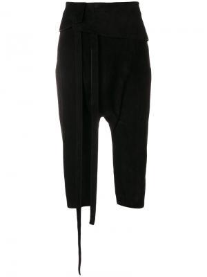 Укороченные брюки Saint Laurent. Цвет: чёрный