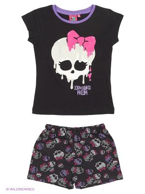 Пижама Monster High. Цвет: черный, белый