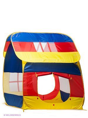 Палатка игровая Домик большой Наша Игрушка. Цвет: желтый, красный