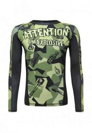 Лонгслив спортивный Hardcore Training. Цвет: зеленый