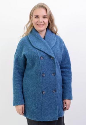 Пальто Lino Russo. Цвет: голубой
