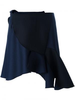 Асимметричная юбка мини Jacquemus. Цвет: синий