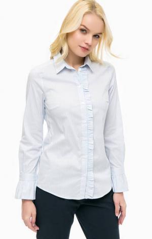 Приталенная рубашка в полоску MORE &. Цвет: синий