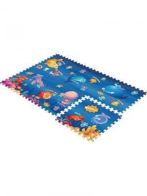 Коврик-Пазл Океан 180Х120Х2 Mambobaby. Цвет: голубой