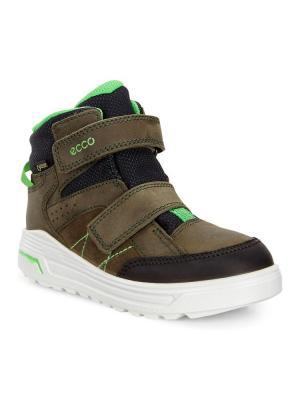Ботинки ECCO. Цвет: темно-зеленый, черный