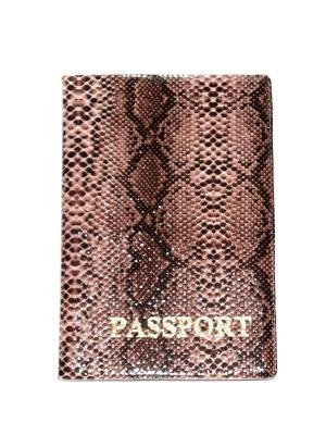 Обложка на паспорт Lola. Цвет: коричневый, черный