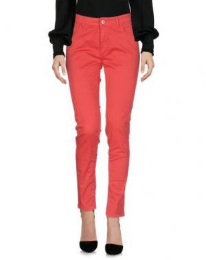 Повседневные брюки DIXIE. Цвет: коралловый