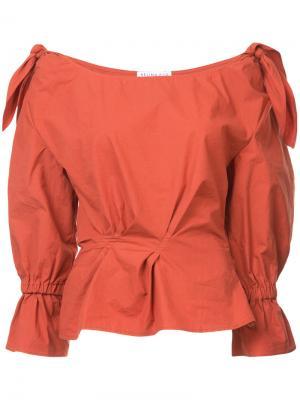 Рубашка Michelle Rejina Pyo. Цвет: жёлтый и оранжевый