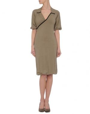 Короткое платье AINOS. Цвет: песочный