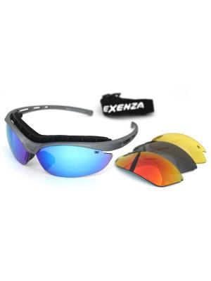 Cолнцезащитные очки Exenza. Цвет: серый