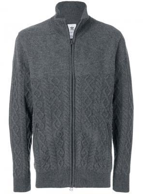 Куртка на молнии Adidas X Wings + Horns. Цвет: серый