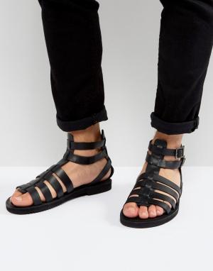KG Kurt Geiger Черные кожаные сандалии с ремешком на щиколотке By. Цвет: черный