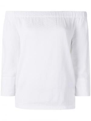 Off shoulder blouse Cecilie Copenhagen. Цвет: белый