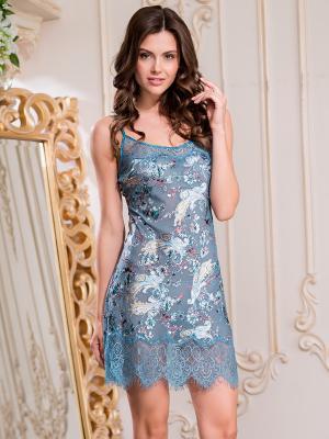 Ночная сорочка MIA-AMORE. Цвет: синий