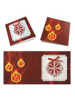 Набор для изготовления открытки Рождественская звезда (красная) ZENGANA. Цвет: красный