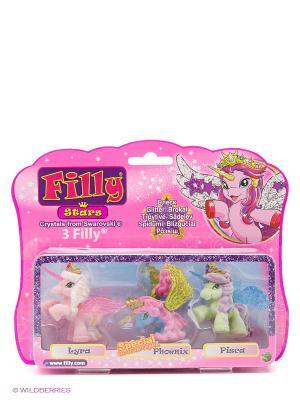 Игровой набор лошадки Филли/Filly Звезды Друзья Lyra Phoenix Pisca Dracco. Цвет: розовый