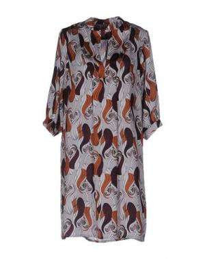 Короткое платье DIXIE. Цвет: серый