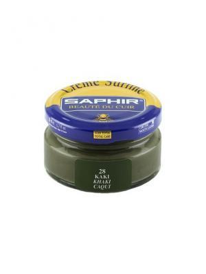 Крем для обуви  банка стекло sphr0032 Creme Surfine 50 мл (28 хаки) Saphir. Цвет: хаки