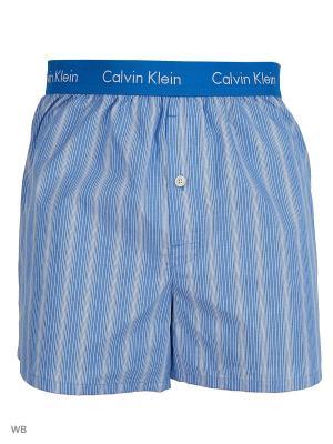 Трусы Calvin Klein. Цвет: синий, голубой