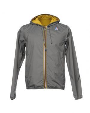 Куртка K-WAY. Цвет: свинцово-серый