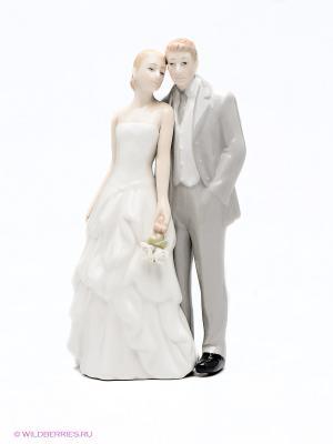 Статуэтка Молодожены Pavone. Цвет: белый, бежевый, серый
