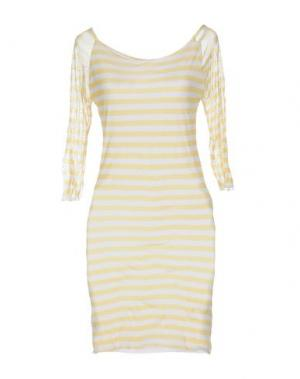 Короткое платье GIORGIA & JOHNS. Цвет: желтый