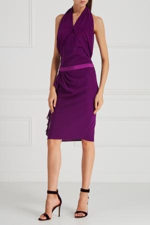 Платье с открытой спиной Giambattista Valli. Цвет: фиолетовый