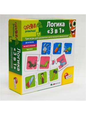 Игра настольная Логика 3 в 1. Lisciani. Цвет: зеленый, салатовый, желтый