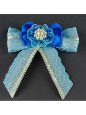Брошь-галстук Венера Аккесорио - Мастер. Цвет: синий