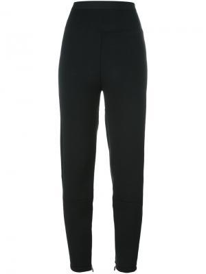 Спортивные брюки с декоративной строчкой Unravel Project. Цвет: чёрный