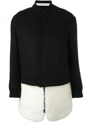 Куртка-бомбер с застежкой на кнопки The Reracs. Цвет: чёрный